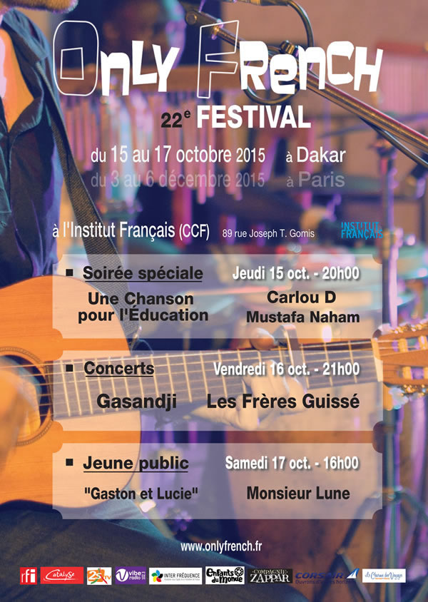 ONLY FRENCH Festival 2015 à Dakar