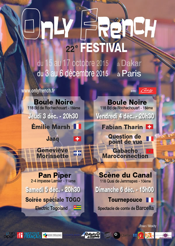 ONLY FRENCH Festival 2015 à Paris